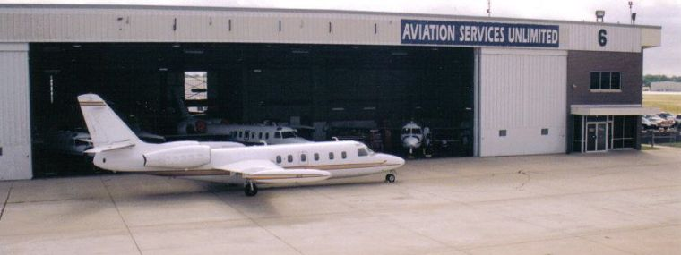 The Oklahoma Jet Support Center facility has a modern hangar and back shops that can accommodate seven Corporate Business Aircraft at one time